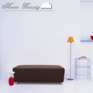 【HomeBeauty】彈力機能塑形魔術沙發罩-低調棕-大腳椅XS