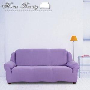 【HomeBeauty】彈力機能塑形魔術沙發罩-葡萄紫-三人座L
