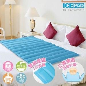【ICE PAD】第三代超級涼感冷凝床墊-超值8KG-水藍