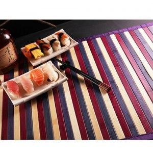 【契斯特】東方米蘭諾100%天然竹防滑餐墊-紫竹彩條