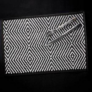 【契斯特】東方米蘭諾100%天然竹防滑餐墊-普普風菱格紋
