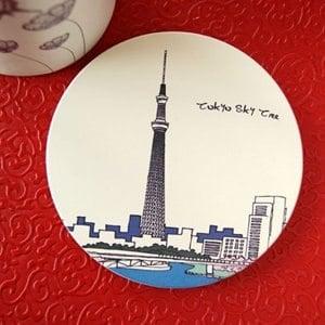 神奇吸水杯墊(日本晴空塔)