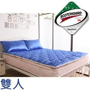 【契斯特】乳膠Q彈透氣睡墊-雙人-海洋藍