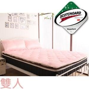 【契斯特】乳膠Q彈透氣睡墊-雙人-漾粉紅