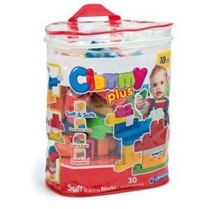 ~Clemmy軟質積木~新30PCS 幼兒軟質袋裝積木~ ST安全蔬果切切樂or蛋糕組