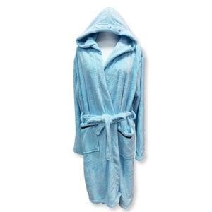 【Mocodo】輕柔附帽吸水浴袍 H1206U-1(海洋藍)