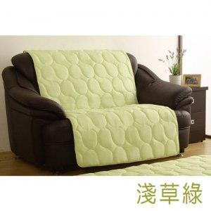 【HomeBeauty】繽紛樂活色彩沙發保潔墊-雙人-淺草綠