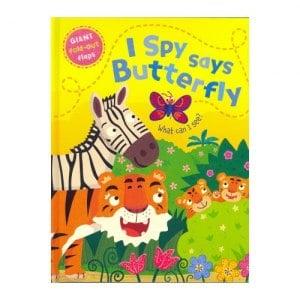 ~英國Caterpillar原文童書~I Spy says Butterfly大翻翻書