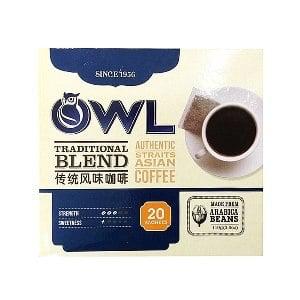 【貓頭鷹】傳統黑咖啡-5.5g*20入/盒
