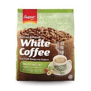 【超級Super】三合一炭燒白咖啡(香烤榛果味)-35gx15入/袋