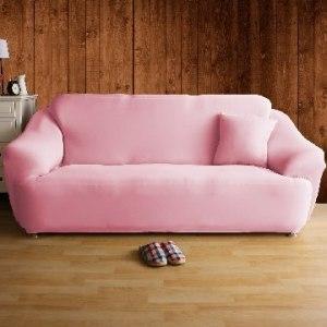 【HomeBeauty】舒適恆溫冰晶絲彈性沙發罩-4人座(草莓塔)