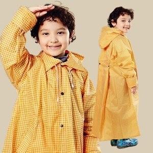 【BrightDay】風雨衣連身式 日系印花兒童款(黃白格)