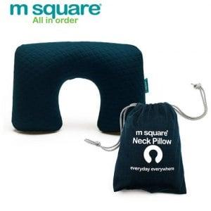 【M Square】旅行舒適棉充氣頸枕(深藍)