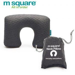 【M Square】旅行舒適棉充氣頸枕(灰色)