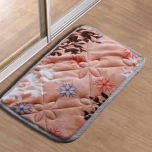 【HomeBeauty】法蘭絨超吸水高回彈加大腳踏墊40x60cm-暖橘春雪
