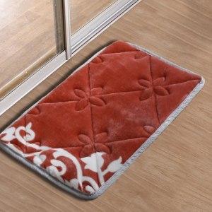 【HomeBeauty】法蘭絨超吸水高回彈加大腳踏墊40x60cm-焦糖布蕾