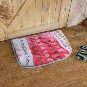 【HomeBeauty】法蘭絨超吸水高回彈特大門口墊50x70cm-春雪飛鹿