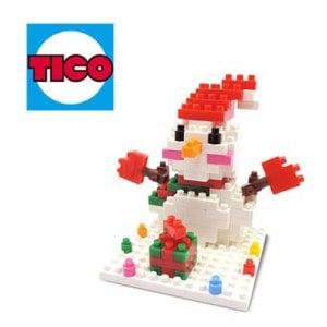 ~TICO~微型積木 雪人~9223