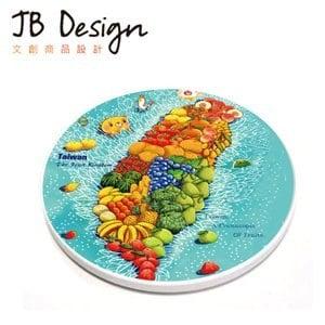 ~JB Design~愛 系列 陶瓷吸水杯墊^(水果 ^)