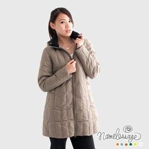 【namelessage】日本無名世代女款長版羽絨外套(卡其色)