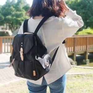 【微笑MIT】KOPER【輕甜焦糖】經典Lovely後背包(背帶加厚升級款)-時尚黑