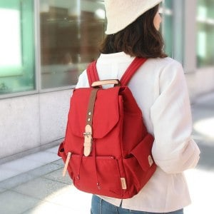 【微笑MIT】KOPER【輕甜焦糖】經典Lovely後背包(背帶加厚升級款)-酒漾紅