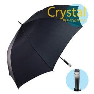韓系透明水晶高爾夫傘-黑