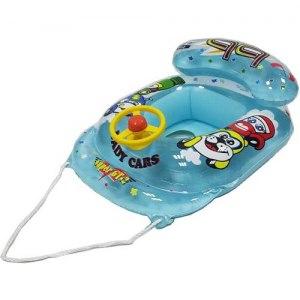 【玩樂一夏】賽車方向盤座船-藍色 A1021-4