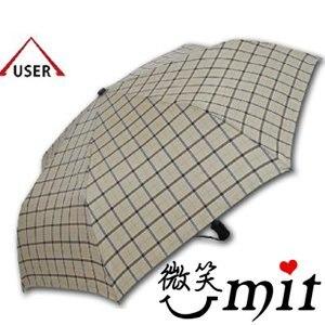 【微笑MIT】張萬春/張萬春洋傘-YAND輕量自動開收傘 T3014(藏青格紋)