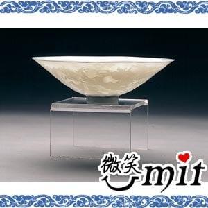 【微笑MIT】存仁堂/存仁堂藝瓷-細雕透光龍鳳薄胎碗(17cm)