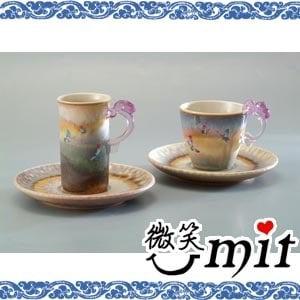【微笑MIT】存仁堂/存仁堂藝瓷-山水蝴蝶對杯