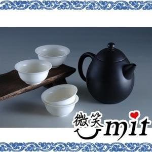 【微笑MIT】存仁堂/存仁堂藝瓷-夾炭黑陶龍蛋壺
