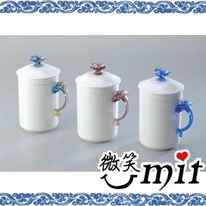 【微笑MIT】存仁堂/存仁堂藝瓷-蘭花濾膽馬克蓋杯(三色/單入)