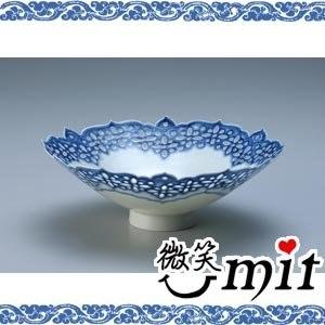 【微笑MIT】存仁堂/存仁堂藝瓷-蓮瓣青花鏤空薄胎碗(17cm)