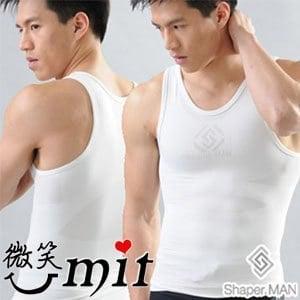 【微笑MIT】Shaper MAN/聯樂製襪-肌力機能衣 男性塑身衣背心(白)