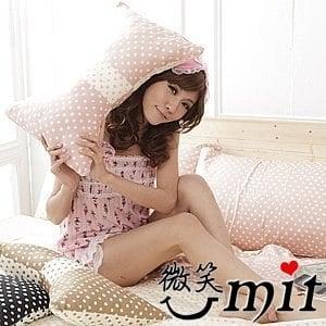 【微笑MIT】Cosy Bedding/蔻絲-東京迷情五件式「精梳棉」雙人床包組(嫩粉圓點)