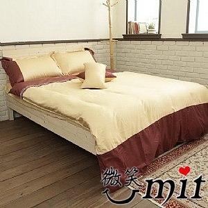 【微笑MIT】Cosy/蔻絲-最細木漿纖維 五件式標準雙人床包組(可可頌)