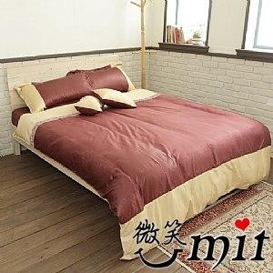 【微笑MIT】Cosy/蔻絲-最細木漿纖維 五件式標準雙人床包組(寶格蒂)