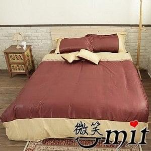 【微笑MIT】Cosy/蔻絲-最細木漿纖維 五件式加大雙人床包組(寶格蒂)