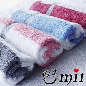 【微笑MIT】舒特/千元棉織-大彩條前漂方巾/3入 FDY-736(四色)