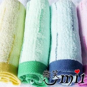 【微笑MIT】舒特/千元棉織-彩條前漂毛巾/3入 MDY-1004(四色)