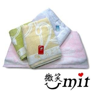 【微笑MIT】舒特/千元棉織-無撚紗雙色提花浴巾 UYJC-570(四色)