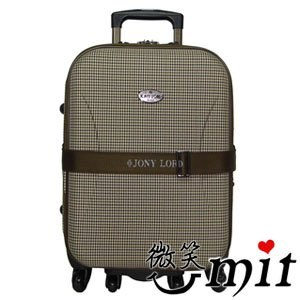 【微笑MIT】JONY LORD/永冠通路-21吋藝術巴黎拉桿旅行箱 JL-9005(千鳥紋)