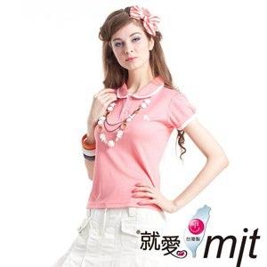 【微笑MIT】瑪蒂斯/盛銘-女短POLO 吸濕排汗衣 CL8712(玫粉)