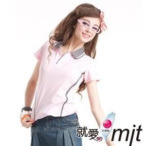 【微笑MIT】瑪蒂斯/盛銘-女短POLO 吸濕排汗衣 玉纖維涼感衣 J7605(粉紅)