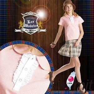 【微笑MIT】瑪蒂斯/盛銘-女短POLO 鍺纖維排汗衣 抗電磁波 學院風 CL8703(淺果橙)