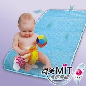 【微笑MIT】自然風/村林欣-嬰兒床空氣軟墊(水藍/1入)