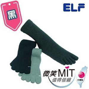 【微笑MIT】ELF/三合豐-竹炭五趾專業除臭襪 7015(3雙/黑)