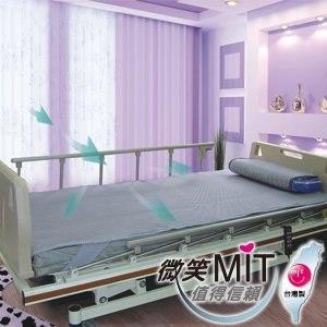 【微笑MIT】自然風/村林欣-高透氣型醫護級透氣床墊(銀)