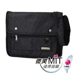 【微笑MIT】Confidence高飛登/晟旭-溫暖療傷側背包 CB176-9(神秘黑/橫式)